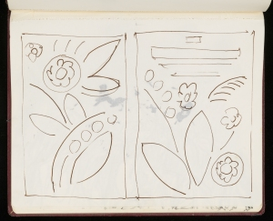 Flower sketch, unattrib. CHA-P-594-29