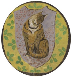 Vanessa Bell, Decorative design for Cat, 1930s. Private collection. Image courtesy of Julie Magura, Herbert F. Johnson Museum of Art.