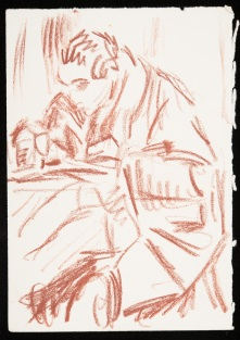 CHA/P/640. Male figure study. ©the Charleston Trust.