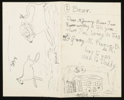 CHA/P/653. Child's sketch and letter. ©The Charleston Trust.