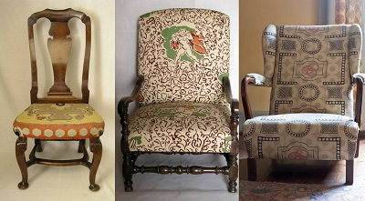 The Three Chairs In Clive Bellu0027s Study. From Left To Right: CHA F 126,  CHA F 22, CHA F 21. Photographs © The Charleston Trust