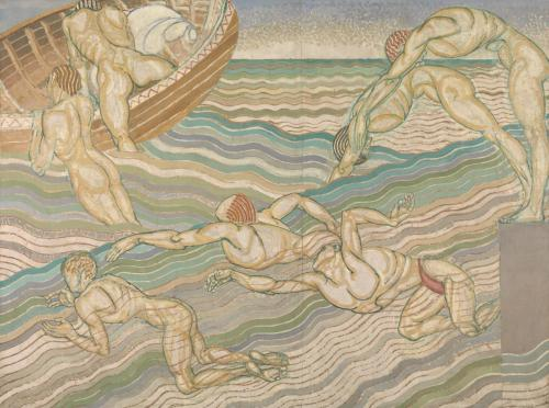 Bathing 1911 by Duncan Grant 1885-1978